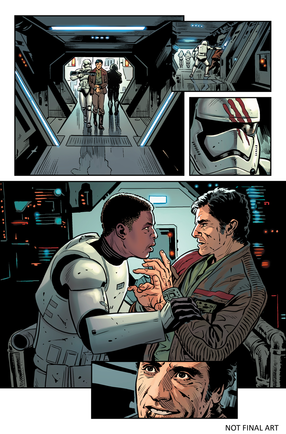 The Force Awakens Comic Book Page Previews Revealed