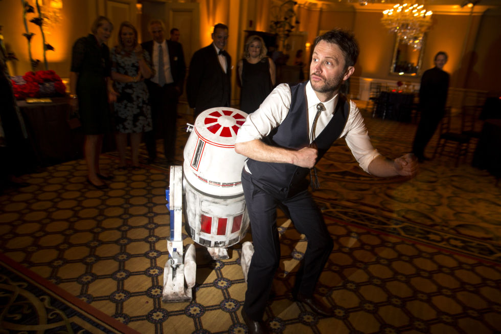 Chris Hardwick had a Star Wars droid as his ring bearer at his wedding