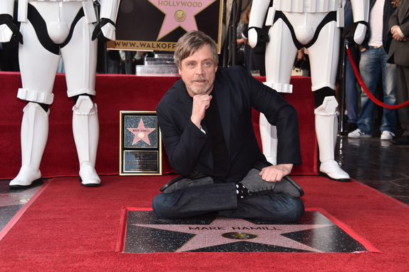 The force turns out for Mark Hamill's Hollywood Walk of Fame star